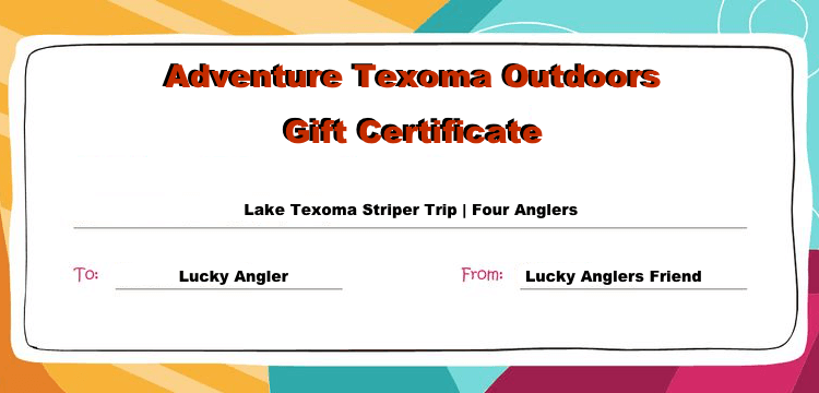 Lake Texoma Fishing Trip Gift Certificates
