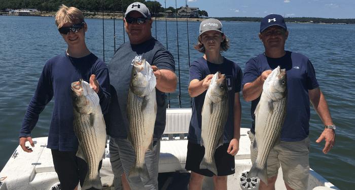 Striper Fish Pictures, Lake Texoma Striper Guides
